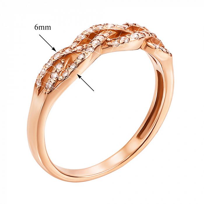Кольцо из красного золота с фианитами 000000257 12607 с