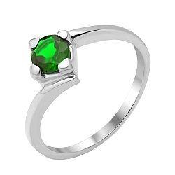 Серебряное кольцо с изумрудом 000134410