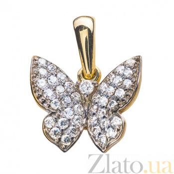 Золотой подвес с бриллиантами Кокетка P0292