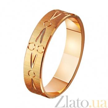 Золотое обручальное кольцо Полная идиллия TRF--411097
