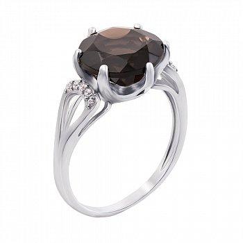 Серебряное кольцо с раухтопазом 000008315