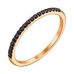 Кольцо из красного золота с черными бриллиантами 000124953
