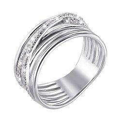Серебряное кольцо с фианитами 000140155