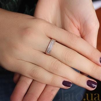 Золотое кольцо в красном цвете с фианитами Киллена 000032375