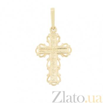 Золотой крестик Божественная любовь 2П071-0052