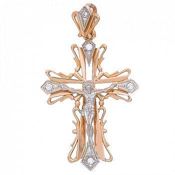 Золотой крест Символ Веры 000013753