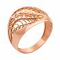 Кольцо из красного золота с алмазной гранью 000133084