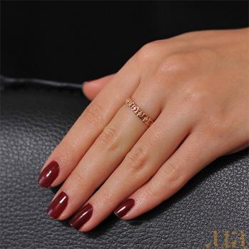 Золотое кольцо с дорожкой из циркония Мэдисон EDM--КД0436