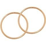 Золотые серьги-кольца Сила круга