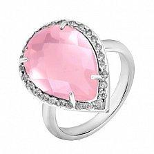 Серебряное кольцо Сласть с ювелирным стеклом и цирконием