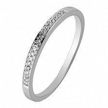 Обручальное кольцо в белом золоте Анна с бриллиантами