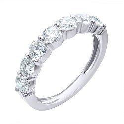 Кольцо из белого золота с бриллиантами 000139503