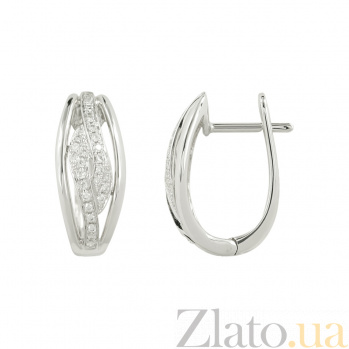Золотые серьги с бриллиантами Лана 1С759-0200