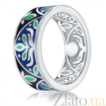 Мужское обручальное кольцо из белого золота Талисман: Веры 2923