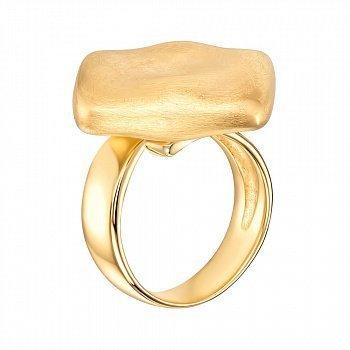 Серебряное кольцо с позолотой 000143766