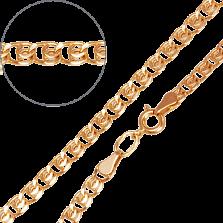 Золотой браслет Анжелика в плетении лав, 2,5мм