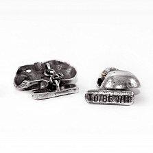 Запонки из серебра Gregg & Baxter с золотыми вставками и чернением