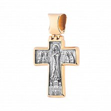 Серебряный крест Основы с позолотой и чернением