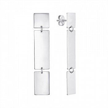 Серебряные серьги-подвески 000146388
