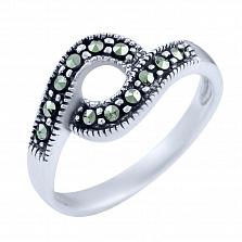 Кольцо из серебра Эмили с марказитом
