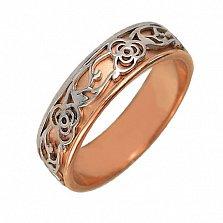 Золотое обручальное кольцо Сад любви