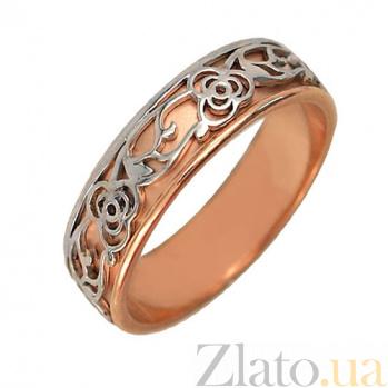 Золотое обручальное кольцо Сад любви VLT--м1798