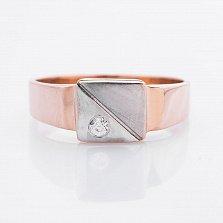 Золотое кольцо Клиффорд с цирконием