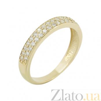 Золотое кольцо с фианитами Гретэль 2К220-0270