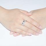 Золотое обручальное кольцо с бриллиантами Совершенная любовь