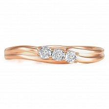 Кольцо из золота с бриллиантами Элегия