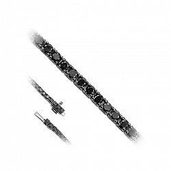 Золотой браслет с черными бриллиантами и черным родием 000082062