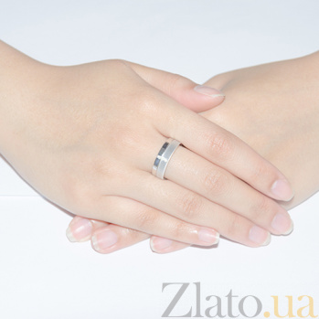 Золотое обручальное кольцо с бриллиантами Совершенная любовь  TRF--422266н