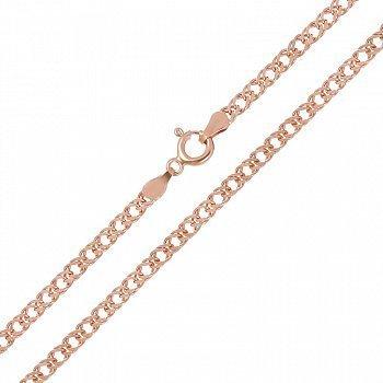 Срібний ланцюг з позолотою, 3 мм 000026161