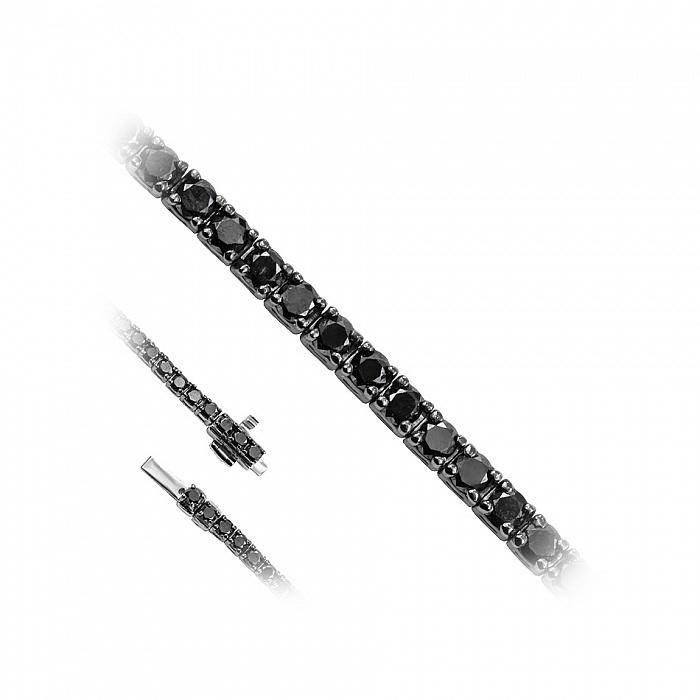 Браслет из белого золота Магали с черными бриллиантами 000082062
