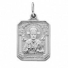 Серебряная ладанка Николай Чудотворец