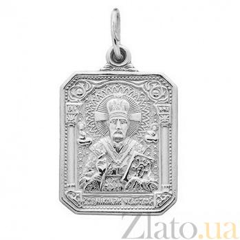 Серебряная ладанка Николай Чудотворец TNG--100034С