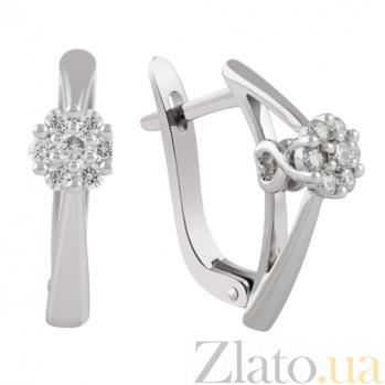 Золотые сережки Элизабет с бриллиантами KBL--С2301/бел/брил
