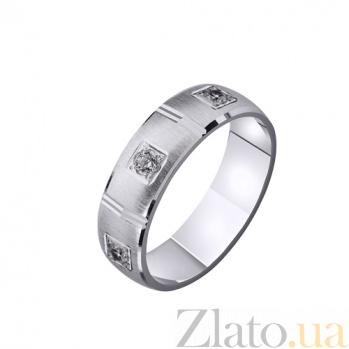 Золотое обручальное кольцо Нежность и любовь с цирконием TRF--4221095