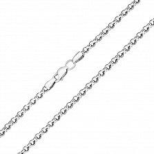 Серебряная цепь Орунд с чернением, 3,5мм