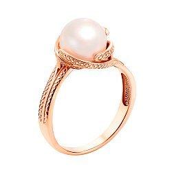 Кольцо в красном золоте Натали с жемчугом