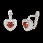 Серебряные сережки с красным цирконием Love you SLX--СК2ФГ/474