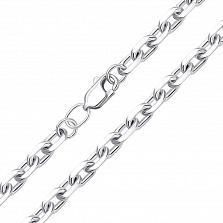Серебряная цепь якорного плетения 000117945
