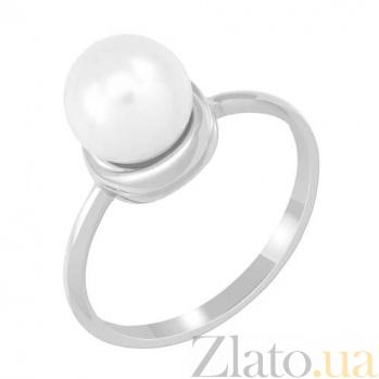 Золотое кольцо с жемчугом Нежность SVA--1190732102/Жемчуг