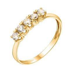 Кольцо из желтого золота с фианитами 000126504
