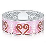Обручальное кольцо из белого золота Талисман: Любви