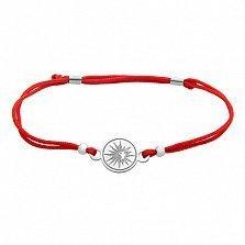 Шелковый браслет со вставкой Солнце ИньЯн