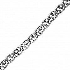 Серебряный браслет Альенте с узорными звеньями, 9мм