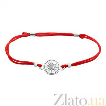 Шелковый браслет со вставкой Солнце ИньЯн 000031138
