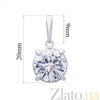 Кулон серебряный с фианитом Верити AQA-3246