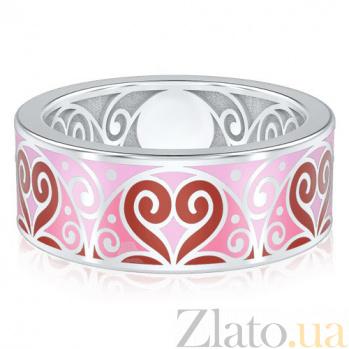 Обручальное кольцо из белого золота Талисман: Любви 1453